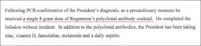 美国网友好奇:给特朗普开的实验药 剂量为何这么大