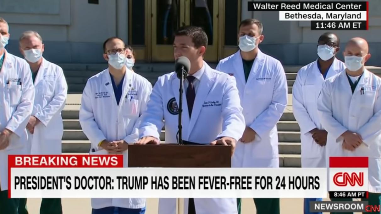 白宫医生:特朗普已退烧24小时