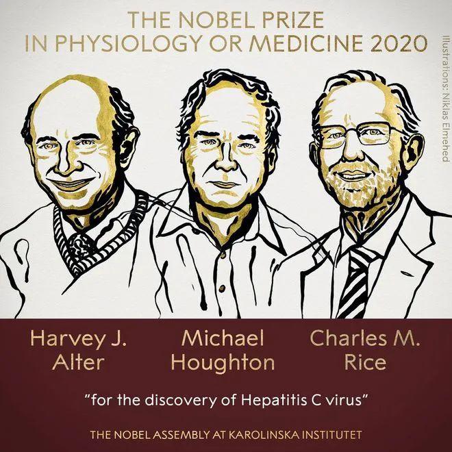 快讯!2020年诺贝尔生理学或医学奖揭晓:丙肝病毒发现者获奖