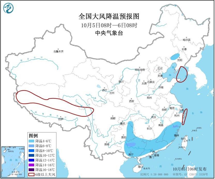 中央气象台:冷空气抵达华南,阴雨仍笼罩华西及南方大部图片