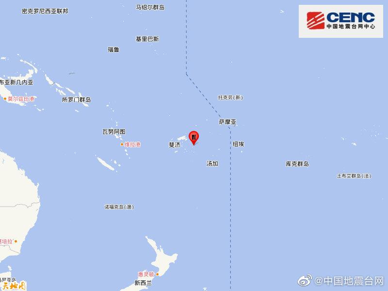 斐济群岛地区发生6.1级地震图片