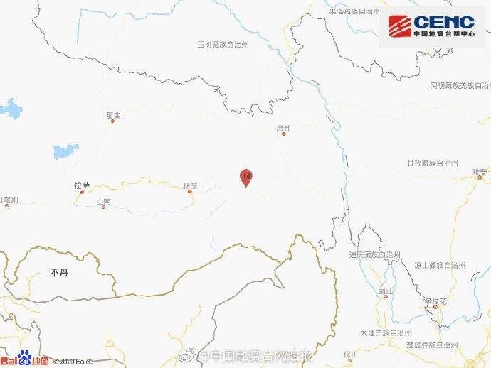 震级为西藏林芝市波密县的地震地震震源深度为