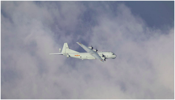 解放军一架运-8反潜机6日进入台湾西南空域。图源:台湾防务部官网
