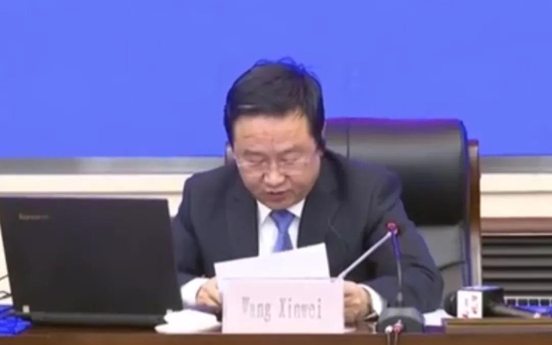 河南副省长、郑州市长王新伟,在联合国工发组织大会分享抗疫经验图片