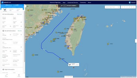 美军特种飞机被曝飞越台湾海峡 绿媒速炒:来划线了图片