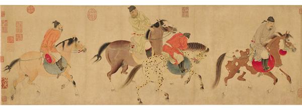 """龙美术馆3亿港币竞买任仁发《五王醉归图》,这位元代""""上海画家""""700年前曾主持疏导吴淞江"""
