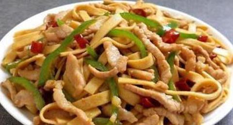 香辣鸡胗,鲜美杏鲍菇,小炒蟹味菇,豆皮炒肉丝