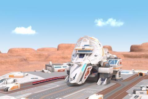 钛甲锰龙总部拔地起,超级车车队告诉我们团结就是力量!