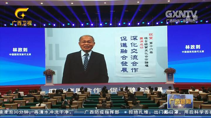 第十六届桂台经贸文化合作论坛开幕,鹿心社会见裴金佳