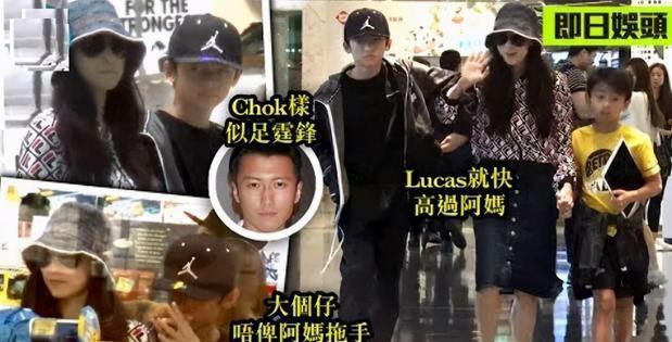 张柏芝带两儿子逛街,13岁扮酷摆造型像谢霆锋,不愿意牵妈妈手