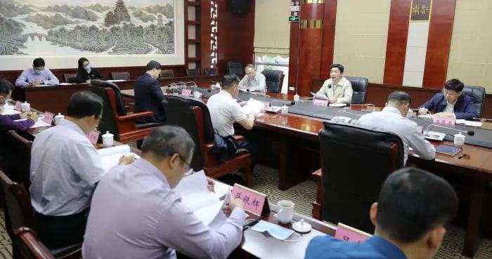 白松涛主持召开市政府党组第三十二次会议 深入学习贯彻党的十九届五中全会精神
