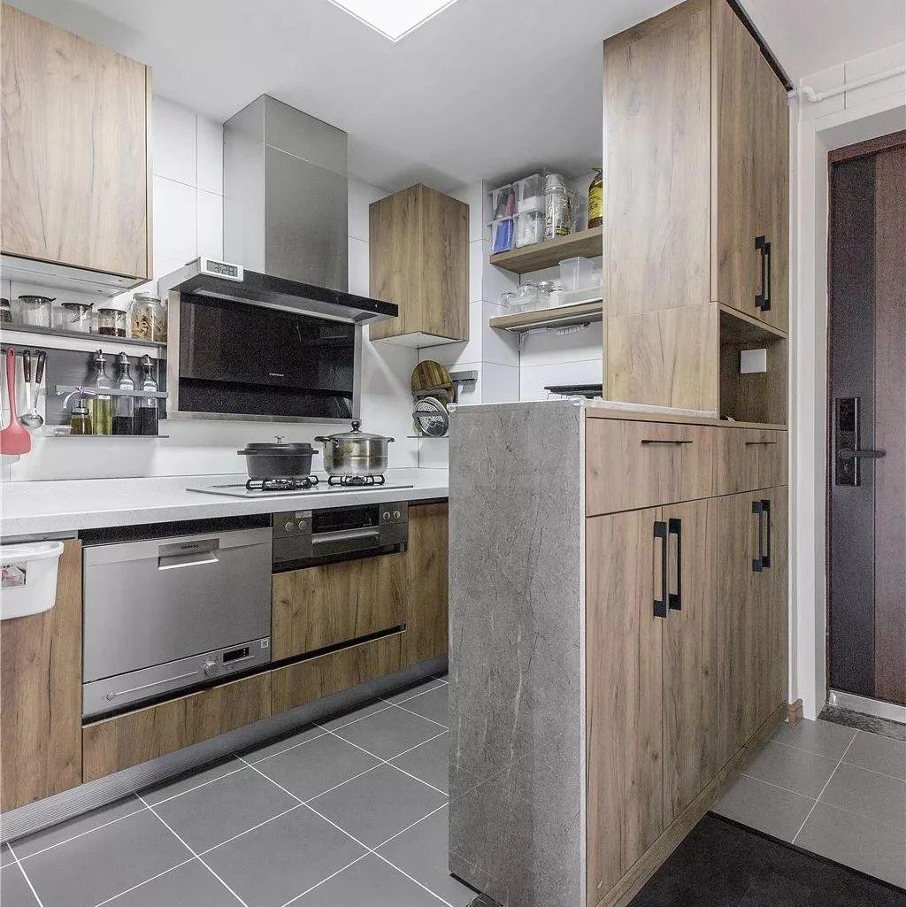 106平的简约风三居室,这种隐藏式的折叠门真实用
