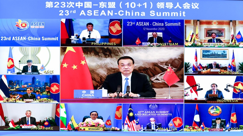 李克强:东盟已成为中国第一大贸易伙伴图片