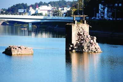 明代镇海桥开修了