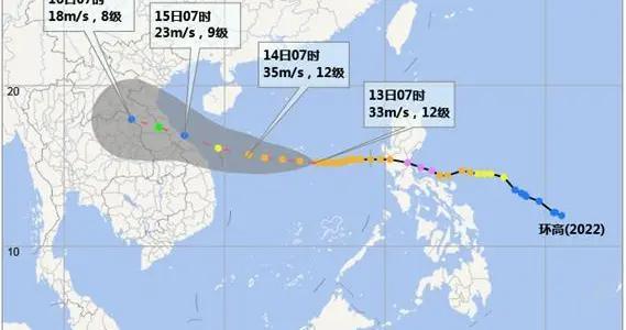 """台风""""环高""""将袭击西沙群岛 严重影响海南省陆地"""