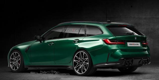 全新宝马M3旅行版渲染图曝光,造型很优雅