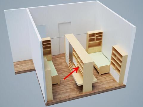 儿童房不用上下铺怎么设计 这样做儿童房面积翻一倍