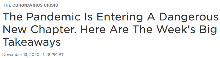 美媒:过去一周美国疫情的严重程度 怎么说都不为过