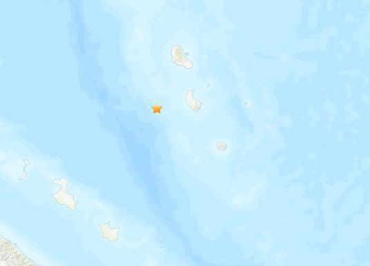 瓦努阿图附近海域发生5.5级地震 震源深度40.7公里
