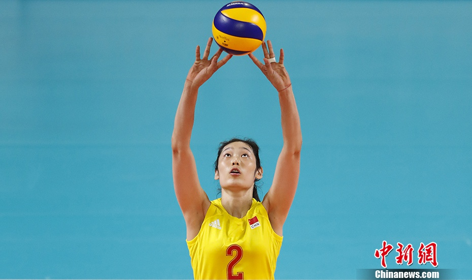 时隔303天 中国女排队长朱婷在联赛中重新上场