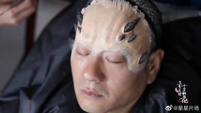 《三生三世十里桃花》花絮 连奕名特效妆,大妆6个小时…………