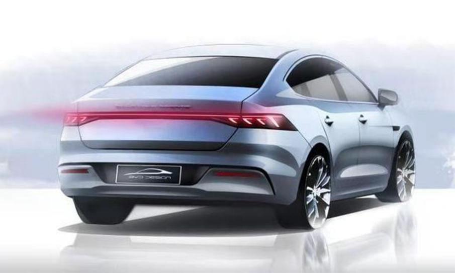 沿用家族设计语言,比亚迪A+级轿车定名秦PLUS
