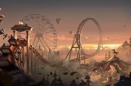 会变身的北京月亮河公园:日光下亭台楼阁,月光下海市蜃楼