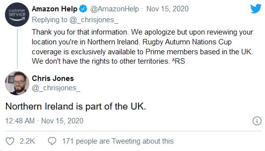北爱尔兰不是英国一部分?亚马逊道歉