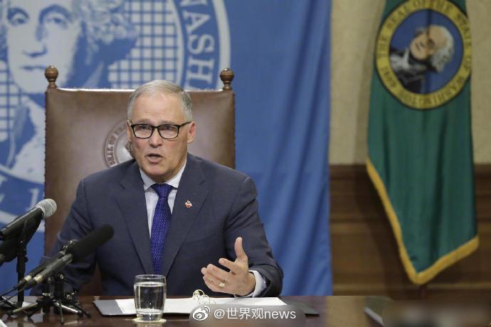 华盛顿州州长杰伊·英斯利周日宣布为期四周的封州令……