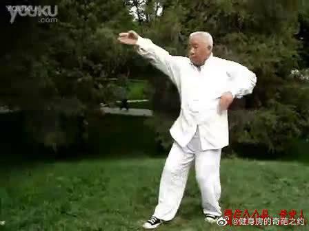张策五行通臂拳第三代传人李增奎先生演练的通臂拳基本功单操散手……