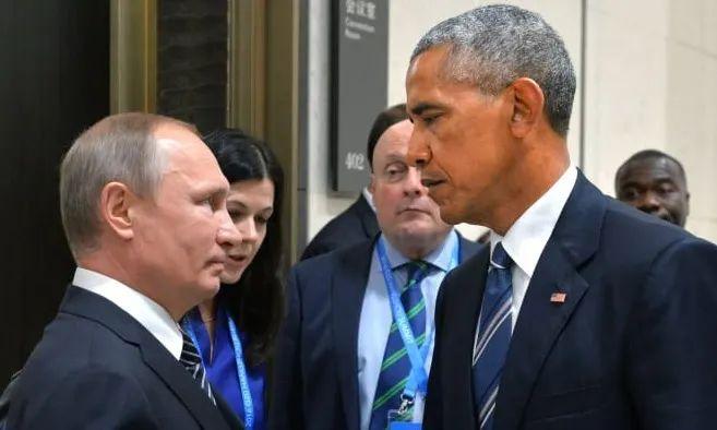 """奥巴马与普京""""死亡对视""""表情包是这么来的"""