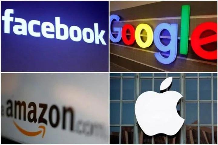亚马逊、脸书、谷歌、苹果因涉嫌垄断被美国国会传唤。图源:美媒