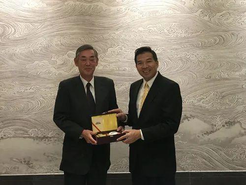日本驻华大使横井裕,离任回国图片