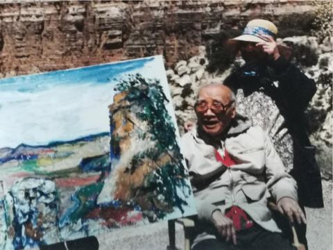 刘海粟为什么在95岁高龄登上美国科罗拉多大峡谷写生?
