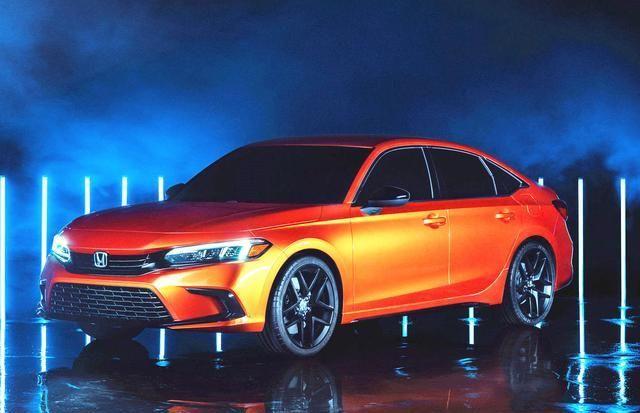 全新本田思域三厢原型车发布,回归传统三厢造型