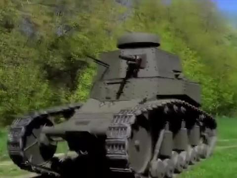 第一次见这轻型坦克,别看个头小,开起火来可一点都不含糊