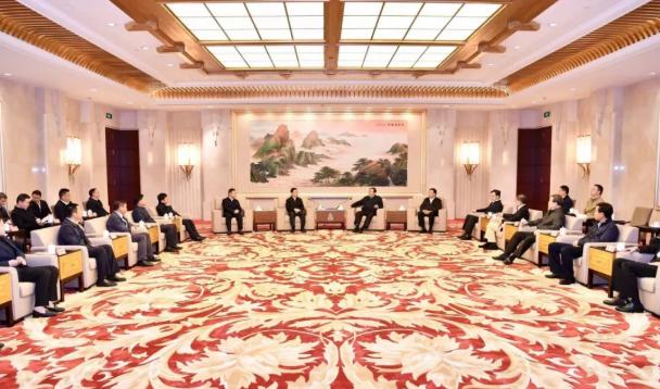 魏树旺率遵义市党政代表团拜会上海市党政主要领导