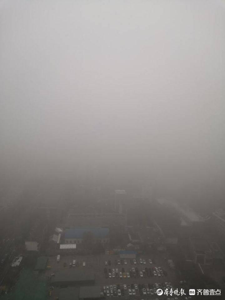 降雨暂停 济南发布大雾橙色预警 局地能见度仅200米