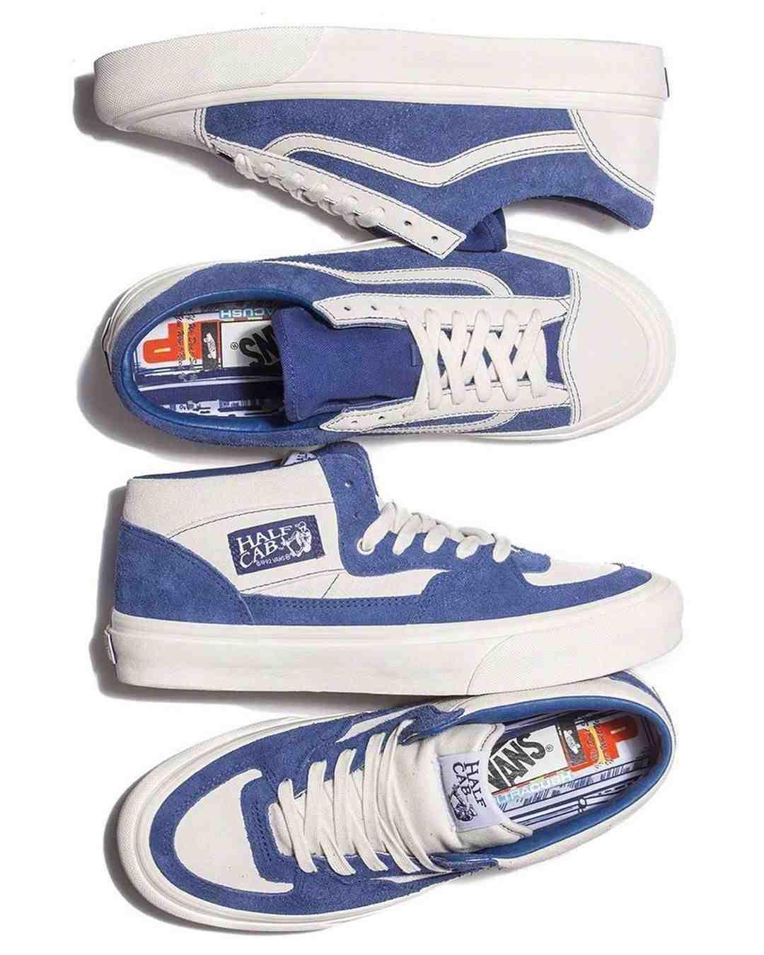 Better Gift Shop x Vans Vault 合作系列,选用蓝色和白色搭配……