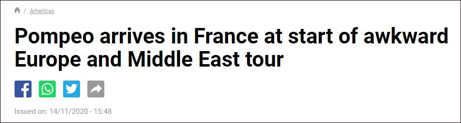 """法媒""""France 24""""报道截图"""