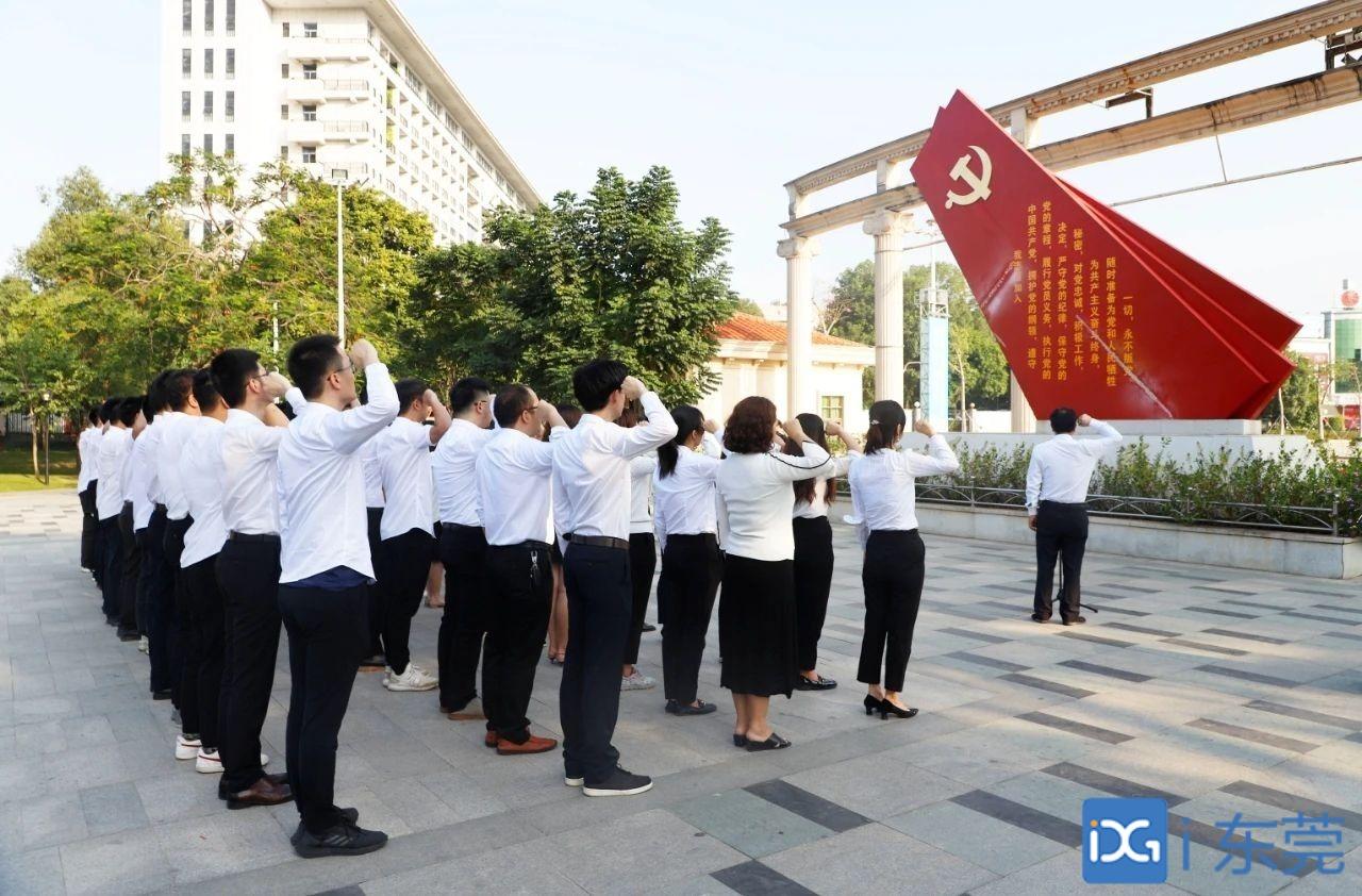 谢岗58名预备党员集体入党宣誓