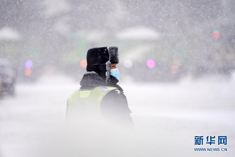 """严寒中的""""北国雪景图""""图片"""