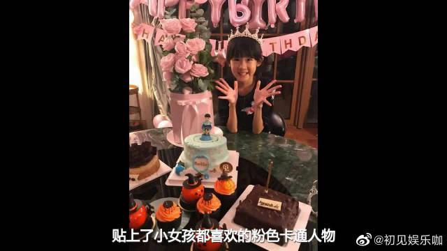 陆毅晒小女儿8岁庆生照,小叶子却委屈表示:这个生日好孤独啊