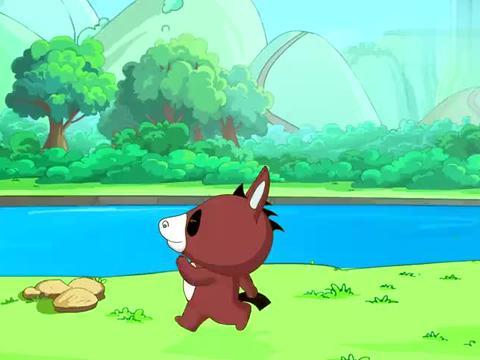 笨笨猪在慢跑,朋友看到觉得奇怪,就直接八卦起来