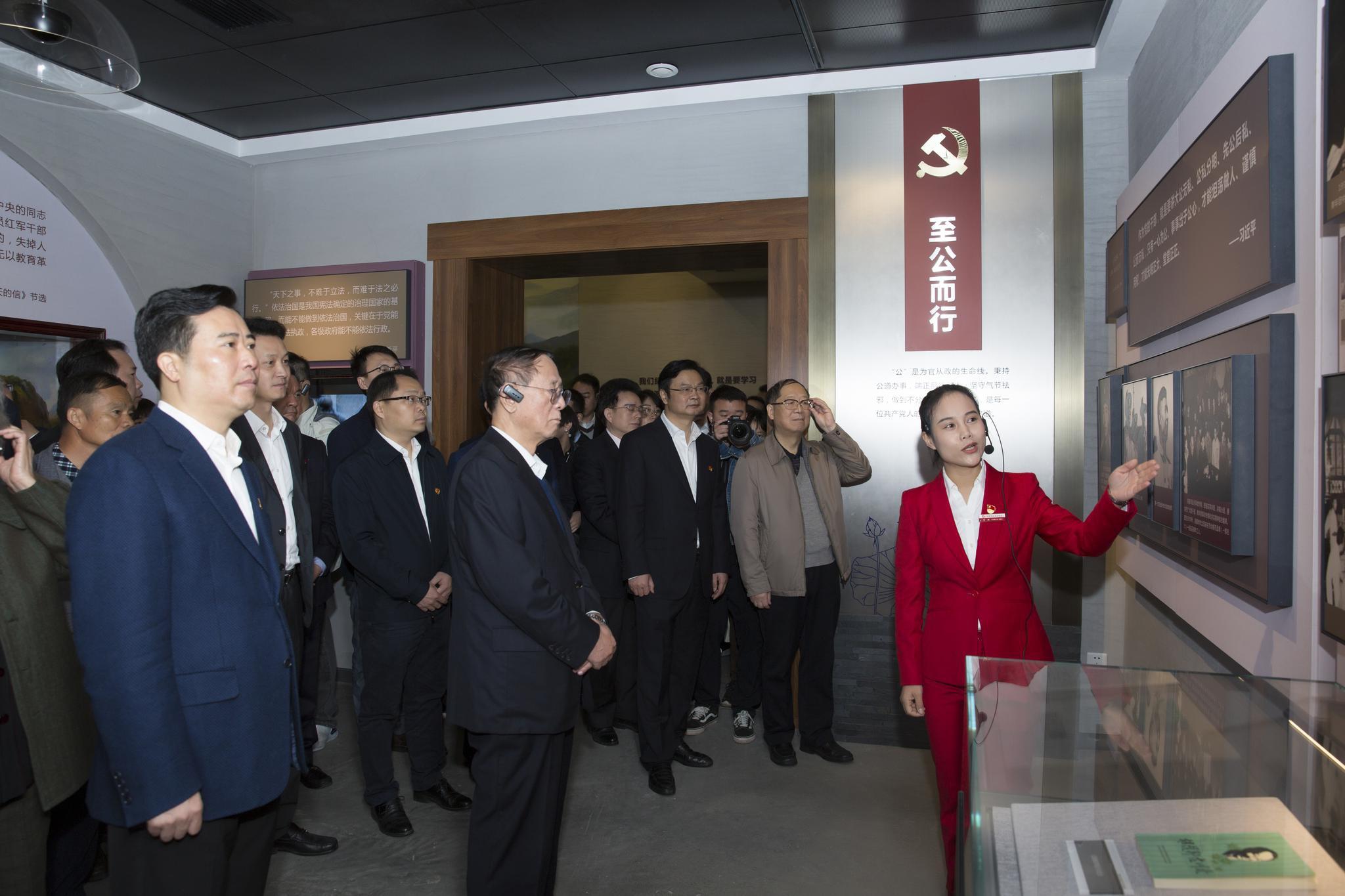 浏阳市第三届廉政文化周开幕,有个专题陈列值得一看
