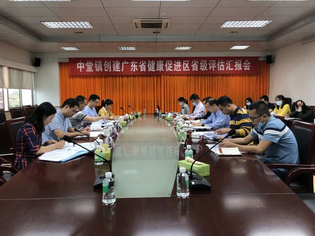 中堂镇创建广东省健康促进区工作迎来省级评估验收