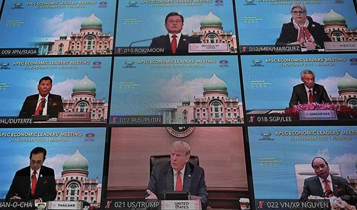 特朗普参加APEC线上会议 但拒绝使用官方视频背景