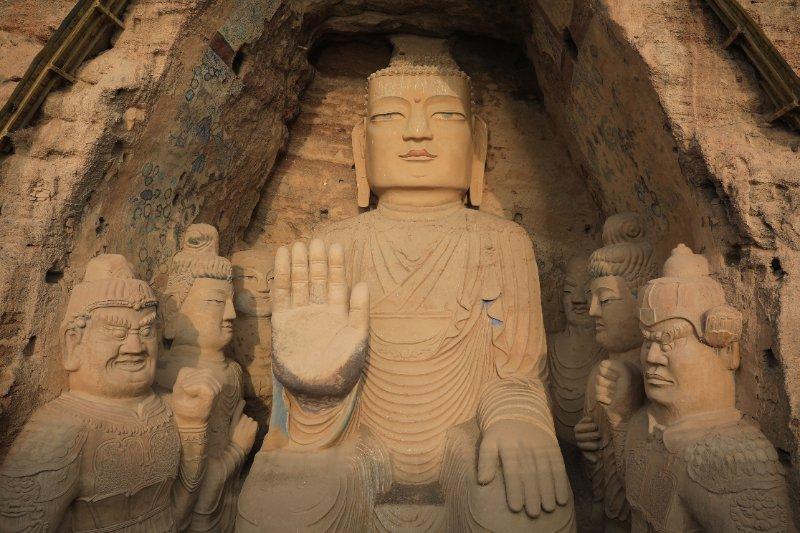 历时7年,甘肃武威天梯山石窟搬迁壁画完成修复