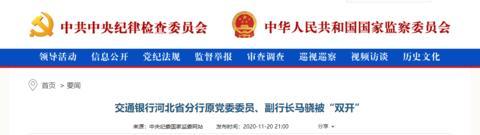 """交通银行河北省分行原党委委员、副行长马骁被""""双开""""图片"""