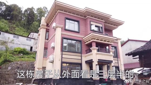 湖南安化建在半山腰的农村别墅,修的真漂亮,天天都有人来参观!